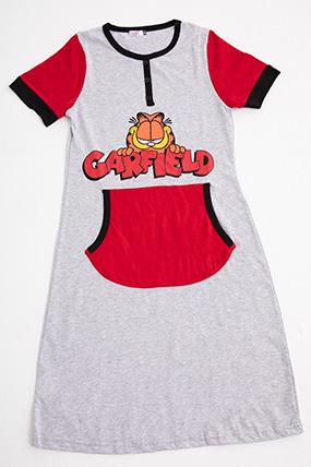 2201 GARFIELD BASKILI CEPLI SABAHLIK ELBISE-P-014511