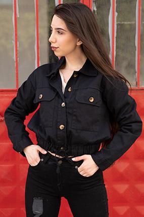 Ceplı keten ceket-P-015297