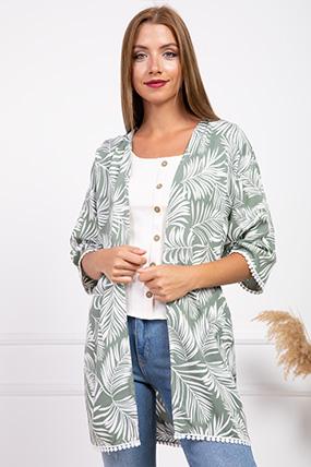 5001 Palmıye Yaprak Desenlı Ceket-P-016943