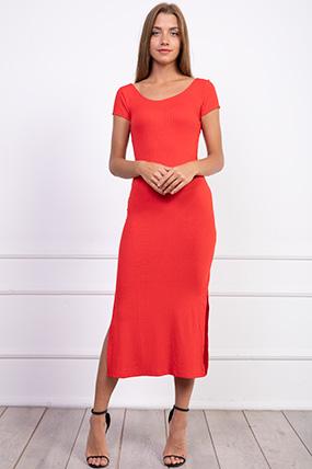 Kaskorse Arkası Capraz Elbise-P-017655