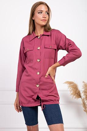 Cepleri Kapaklı Etegi Baglamalı Gömlek-P-017965