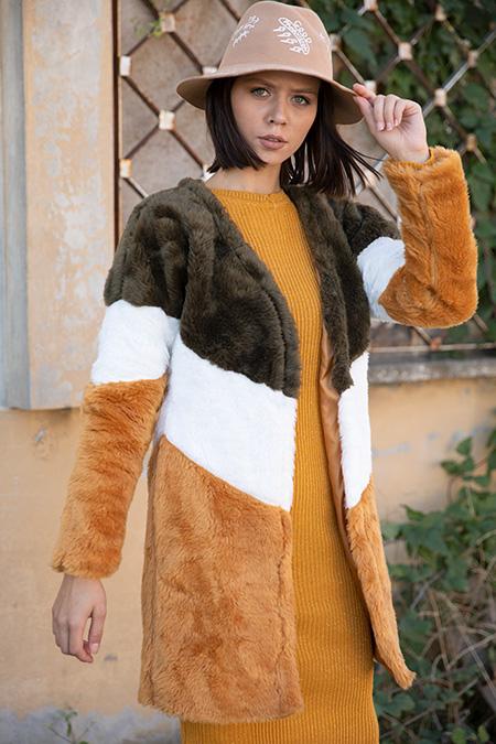 Renklı Pelus Ceket-P-015463