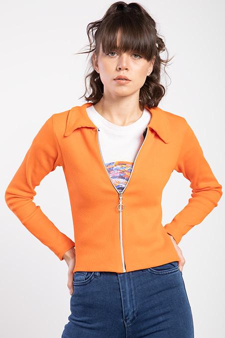 Fermuarlı Fıtıllı Ceket-P-016276
