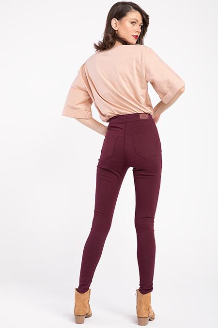 Cepsız Yuksek Bel Keten Pantolon_