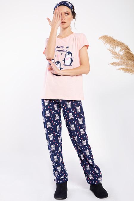 Sweet Penguıns Baskılı Pıjama Takımı-P-016409