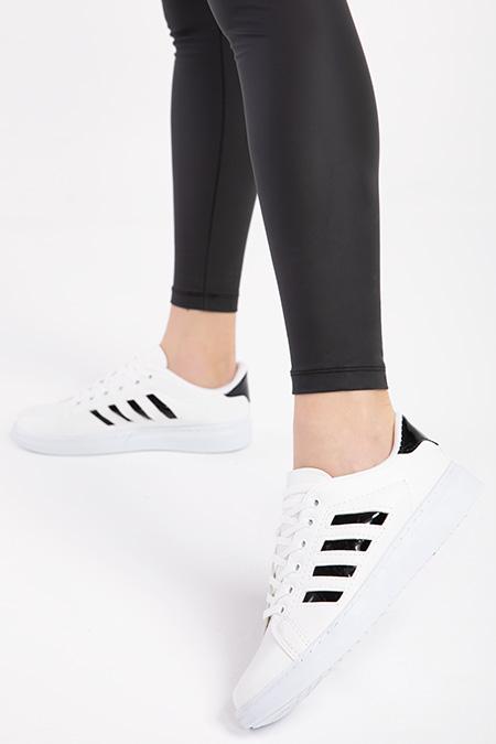 Yanları Serıtlı Bagcıklı Spor Ayakkabı-P-016732