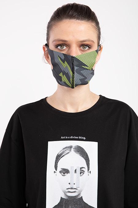 Baskılı Esnek Maske-P-017116