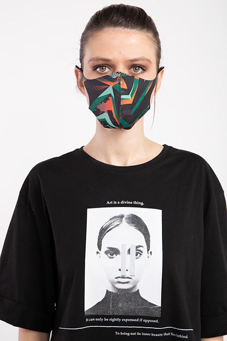 Baskılı Esnek Maske-P-017117