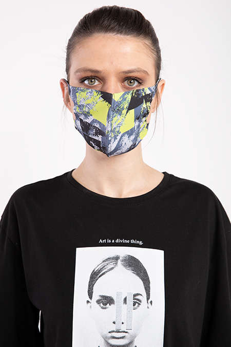 Baskılı Esnek Maske-P-017128