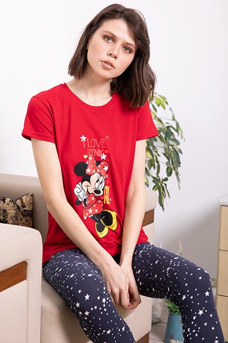 Love Pink Baskılı Pijama Takımı-P-017172