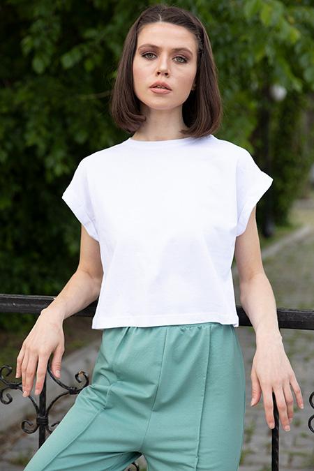Bisiklet Yaka Kısa T-shirt-P-017322