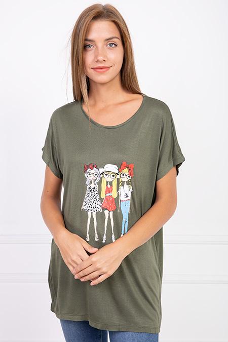 Kadın Baskılı T-shirt-P-017635