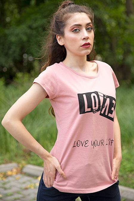 Love Baskılı Esofman Takımı_SIYAH