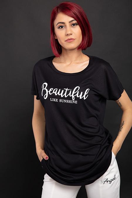 Beautiful Baskılı T-shirt-P-017833