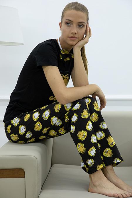 Garfield Baskılı Pijama Takımı-P-017870