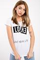 Love Baskılı T-shirt / BEYAZ