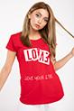 Love Baskılı T-shirt / KIRMIZI