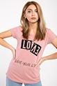 Love Baskılı T-shirt / PUDRA