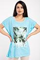 Baskılı Sals T-shirt / MAVI
