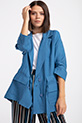 safarı ceplı kusaklı ceket / INDIGO