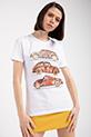 Vosvos Baskılı Varaklı T-shirt / BEYAZ