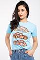 Vosvos Baskılı Varaklı T-shirt / MAVI