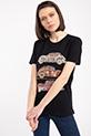 Vosvos Baskılı Varaklı T-shirt / SIYAH