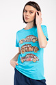 Vosvos Baskılı Varaklı T-shirt / TURKUAZ