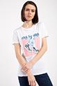 Baskılı Incili T-shirt / BEYAZ