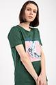 Baskılı Incili T-shirt / HAKI