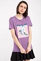 Baskılı Incili T-shirt / MOR