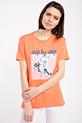 Baskılı Incili T-shirt / ORANJ