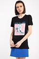 Baskılı Incili T-shirt / SIYAH