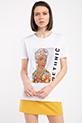 Ethnıc Baskılı Taslı T-shirt / BEYAZ