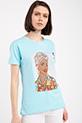 Ethnıc Baskılı Taslı T-shirt / MINT