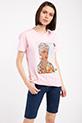 Ethnıc Baskılı Taslı T-shirt / PEMBE
