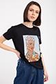 Ethnıc Baskılı Taslı T-shirt / SIYAH