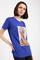Ethnıc Baskılı Taslı T-shirt / SAKSMAVI