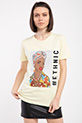 Ethnıc Baskılı Taslı T-shirt / SARI
