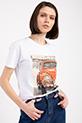 Legend Baskılı Taslı T-shirt / BEYAZ