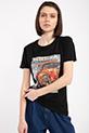 Legend Baskılı Taslı T-shirt / SIYAH
