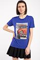 Legend Baskılı Taslı T-shirt / SAKSMAVI