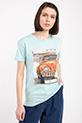 Legend Baskılı Taslı T-shirt / SUYESILI