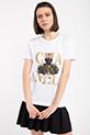 Cha Varak Baskılı Taslı T-shirt / BEYAZ