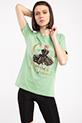 Cha Varak Baskılı Taslı T-shirt / YESIL