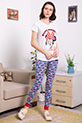 Mickey Baskılı Pijama Takımı / BEYAZ