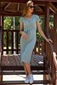 Kruvaze Yaka Yırtmaclı Kaskorse Elbise / SUYESILI
