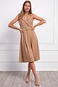 Klasik Yaka Kemerli Elbise / VIZON
