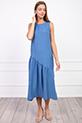 Sıfır Kol Yanı Yırtmaclı Elbise / INDIGO
