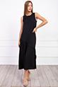 Sıfır Kol Yanı Yırtmaclı Elbise / SIYAH